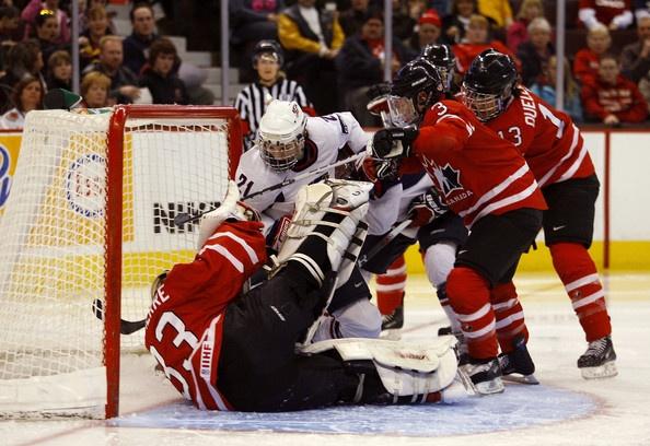 Canada vs USA women's hockey. Big game this morning