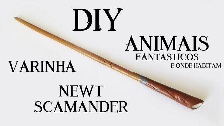 DIY: Varinha Newt Scamander - Animais Fantásticos e Onde Habitam | Ideias Personalizadas - DIY - Fantastic Beasts and Where to Find Them - Newt Scamander Wand.