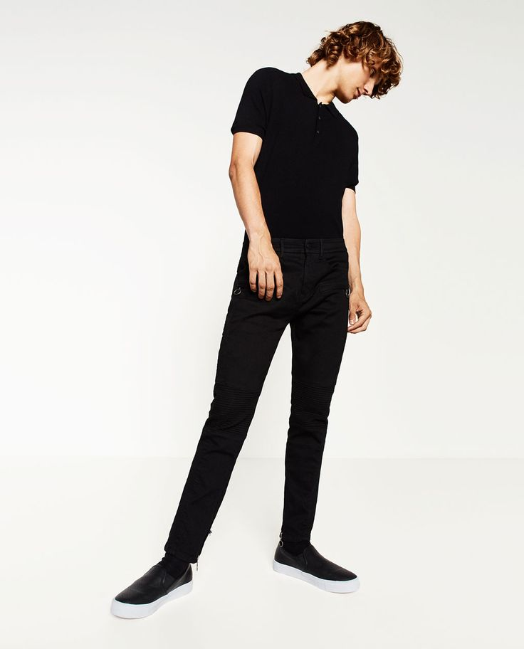 ZARA - MAN - BIKER TROUSERS
