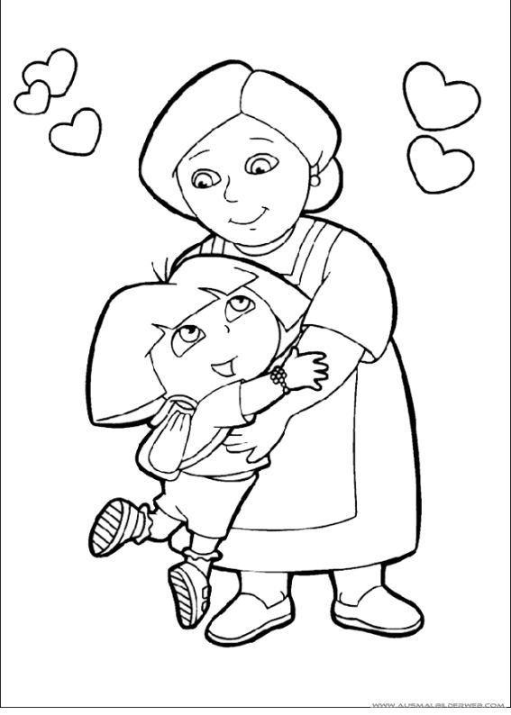 nick jr dora coloring pages - photo#40