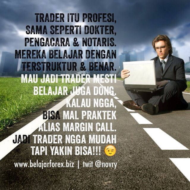 Trader #forex #gold itu profesi. Sama seperti dokter, pengacara & notaris. Mereka belajar dengan terstruktur & benar. Mau jadi trader mesti belajar juga dong. Kalau ngga, bisa malpraktek alias Margin Call. Jadi trader ngga mudah tapi yakin BISA!!!  - www.belajarforex.biz #belajarforex #emas #trading #forextrading #goldtrading #forexanalysis #forextraining #investment #investasi #forexsignals #indonesia #jakarta #medan #bandung #semarang #surabaya #instagood #instadaily #instapic #instanesia