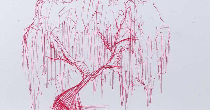 """Cómo dibujar un sauce llorón. El sauce llorón es uno de los árboles más expresivos que existen. Debido a su forma colgante y a sus hojas largas que a veces tocan el suelo, parece que está """"llorando"""". Al ser tan diferente a los otros árboles, el sauce llorón puede ser muy difícil de dibujar. Usando formas y líneas básicas, puedes dibujar un bosquejo muy expresivo de un sauce ..."""