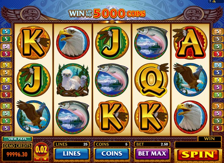 Eagles Wings - http://www.777free-slots.com/free-slot-machine-eagles-wings/