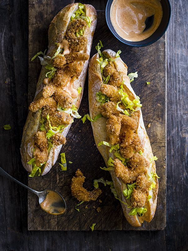 The po' boy is a New Orleans classic. The fried fillings include catfish, oysters and soft-shelled crab. What makes it extra special is the remoulade, a spiced Cajun mayo-based sauce.