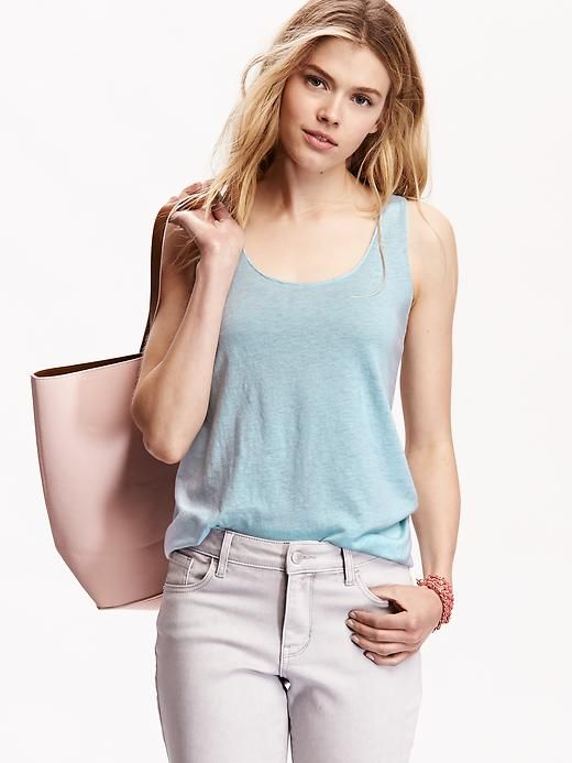 Old Navy Racerback Raw-Edge Tank