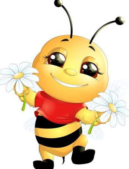 lovely cartoon bee set vectors 13