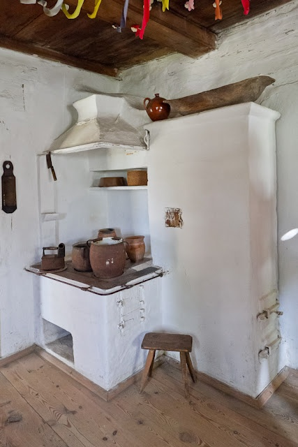 Cottage interiors, open air museum in Nowogrod, Poland