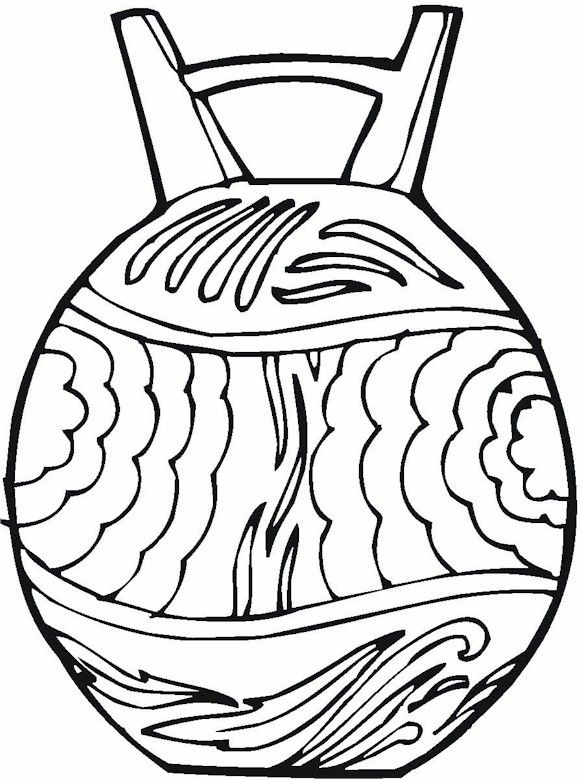 coloring pages native american pottery - photo #22