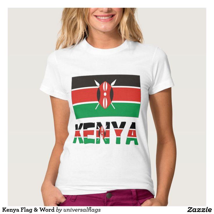 Kenya Flag & Word T-shirt