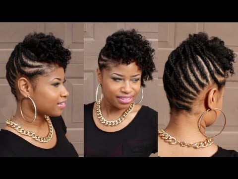 Pin By M C On Hair And Makeup Short Natural Hair Styles Natural Braided Hairstyles Natural Hair Styles
