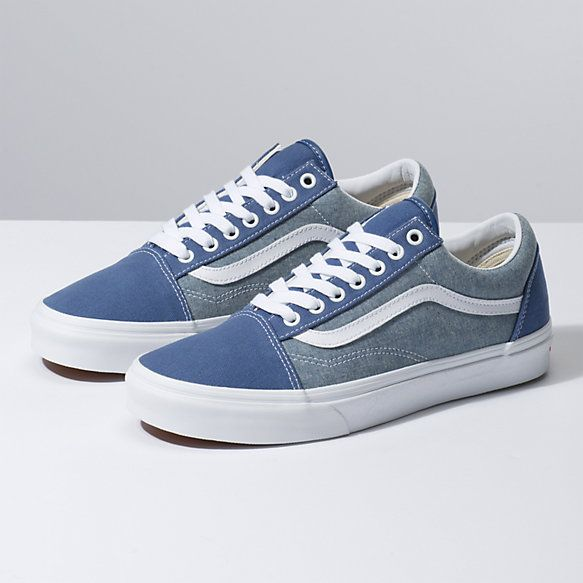 Chambray Old Skool With Images Mens Vans Shoes Buy Mens Shoes