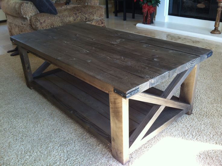 rustic coffee tables rustic x coffee table do it yourself home projects from ana white. Black Bedroom Furniture Sets. Home Design Ideas