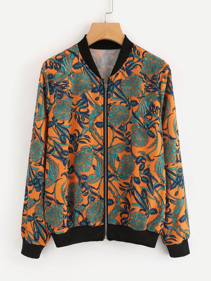 Shop Botanical Print Bomber Jacket online. SheIn offers Botanical Print Bomber Jacket & more to fit your fashionable needs.