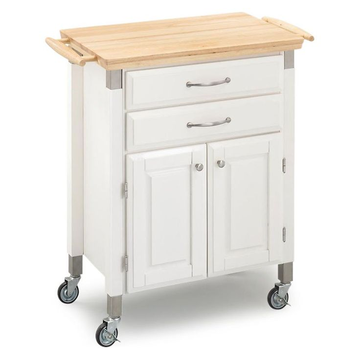 Dolly Madison Prep And Serve Kitchen Cart White