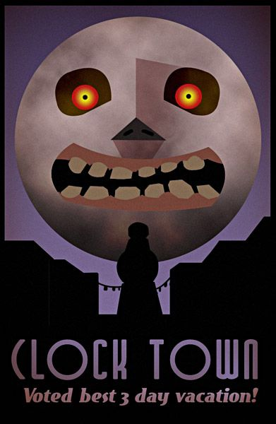 Legend of Zelda: Majora's Mask - Clock Town poster