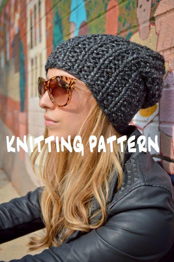 Knit Slouchy Hat Pattern Bulky Yarn : 17 Best ideas about Slouchy Beanie Pattern on Pinterest ...
