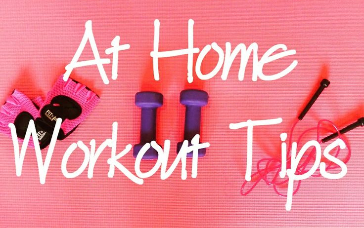 Check out my tips for working out at home