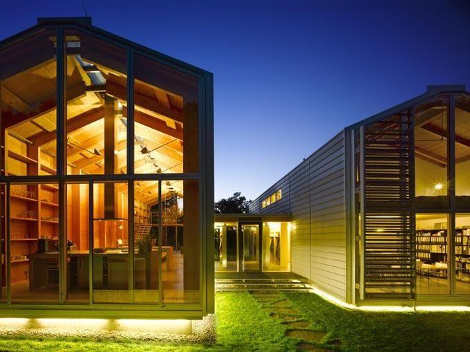 KModern, minimalista otthon és munkahely - a csónakház ihlette Nobis House