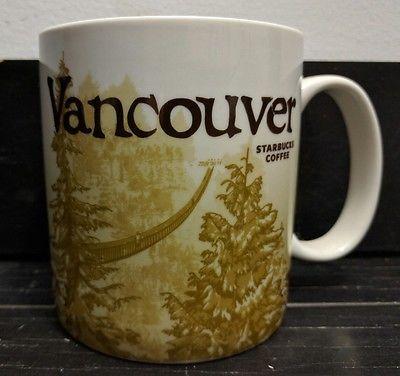 Starbucks Vancouver Canada Global Icon Collector Series City Mug 2009 RARE