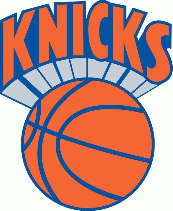 NBA New York Knicks Primary Logo (1977) - Knicks in orange over an orange basektball