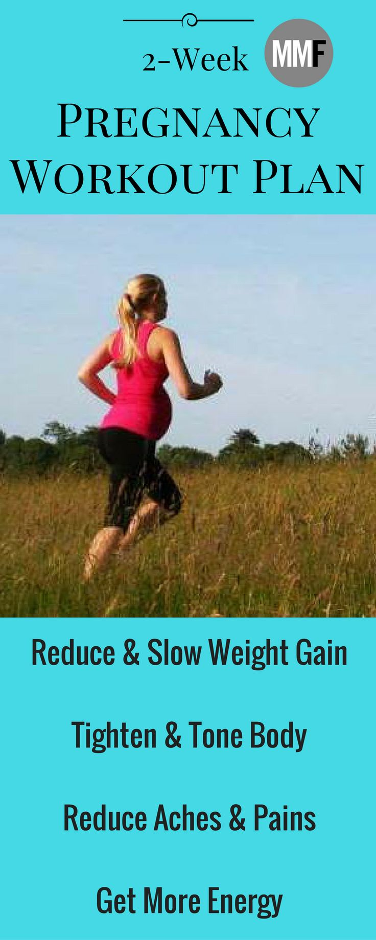 Reduce Pregnancy Weight Gain with this free 2 week pregnancy workout plan.