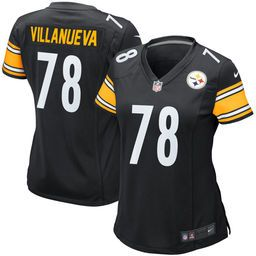 ... Villanueva Pittsburgh Steelers Nike Womens Game Jersey – Black (home or  away jersey) Mens Pittsburgh Steelers 99 Brett Keisel 1933 Yellow Throwback  ... 861d82472