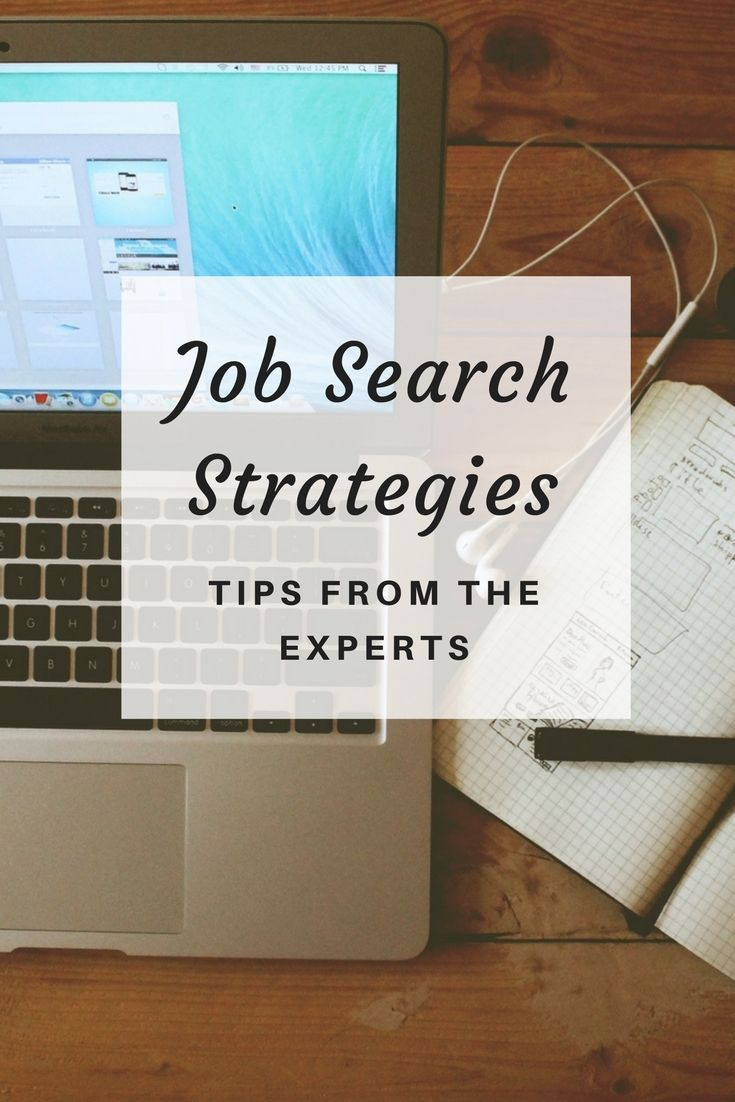 Job search strategies from the experts