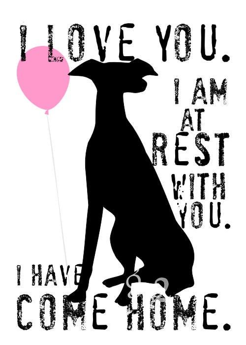 Greyhound Rescue Dog Art Print Wall Decor. $14.00, via Etsy.