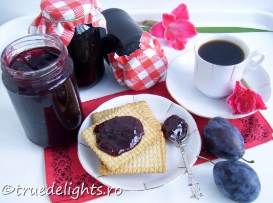 Gem de prune fara zahar