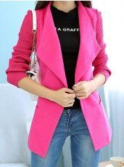 Women' Casual Lapel Long Sleeve   Overcoat