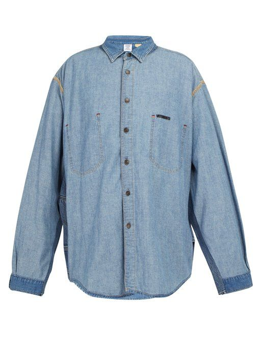 b9858734da0 VETEMENTS Inside-out panelled denim shirt.  vetements  cloth ...