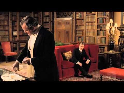 """the way that you do your hair gets me flabbergasted"" cast of downton abbey singing one direction."