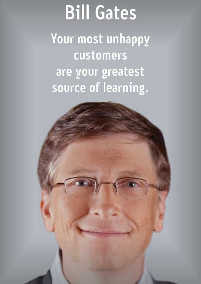 Remember that your clients end up teaching you the business. #SageSocial #SageBossTips #BillGates