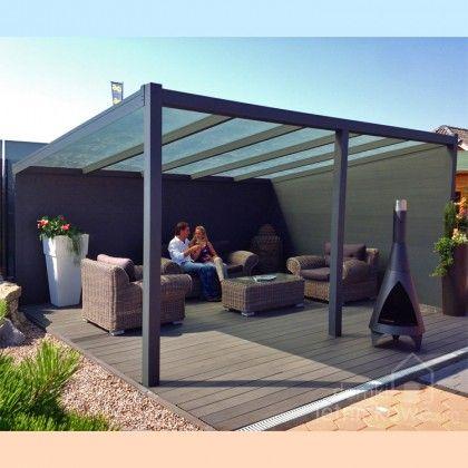 Wolnostojąca weranda Gardendreams z dachem poliwęglanowym (Aluminium terrace roofing with polycarbonate) 400 cm