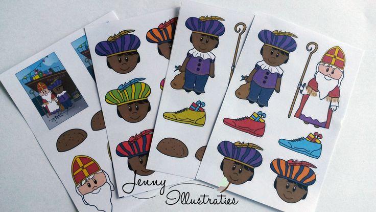 Sint en Piet Stickers voor €1,25
