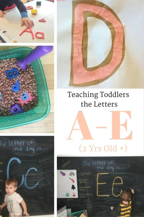 Teaching Toddlers the Letters A-E (2 years old +)