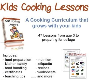 Kids Cooking Lessons for children 12-15 year olds junior chef lessons 1