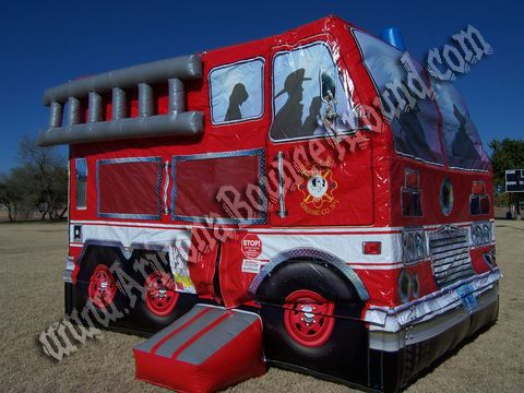 15X15 Inflatable Fire Truck Bounce House Rental