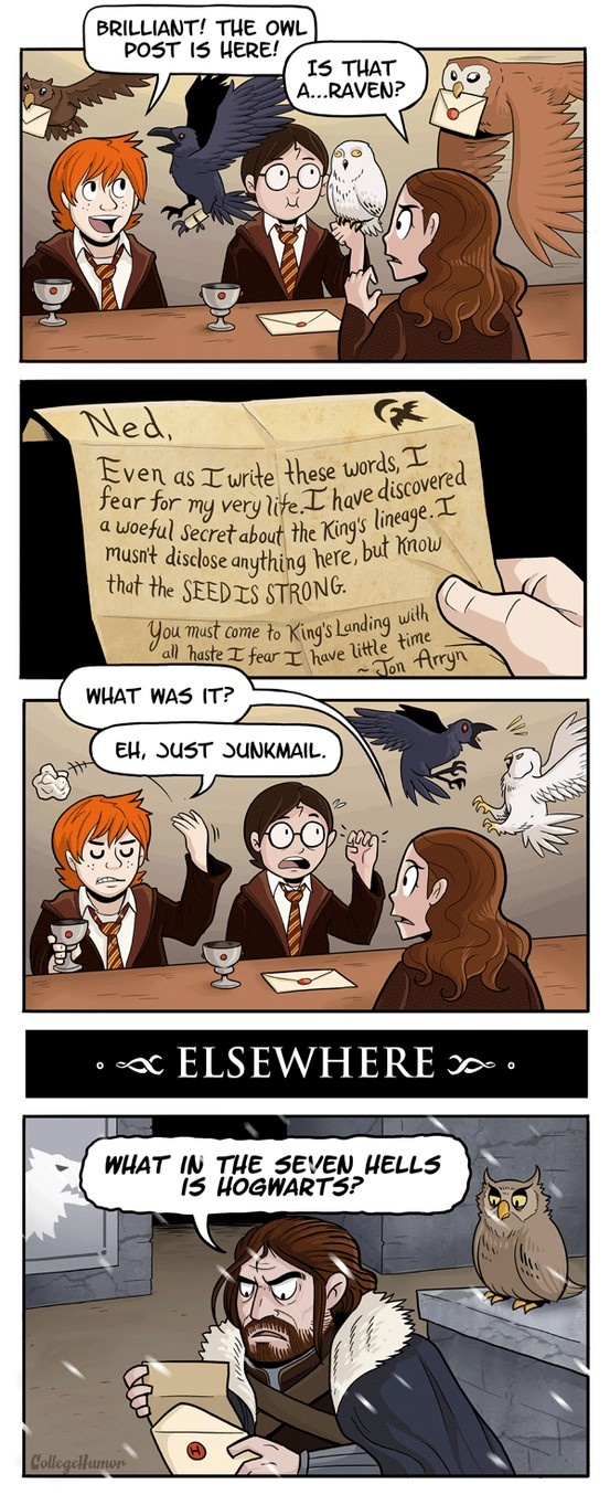 Harry Potter and A Song of Ice and Fire crossover