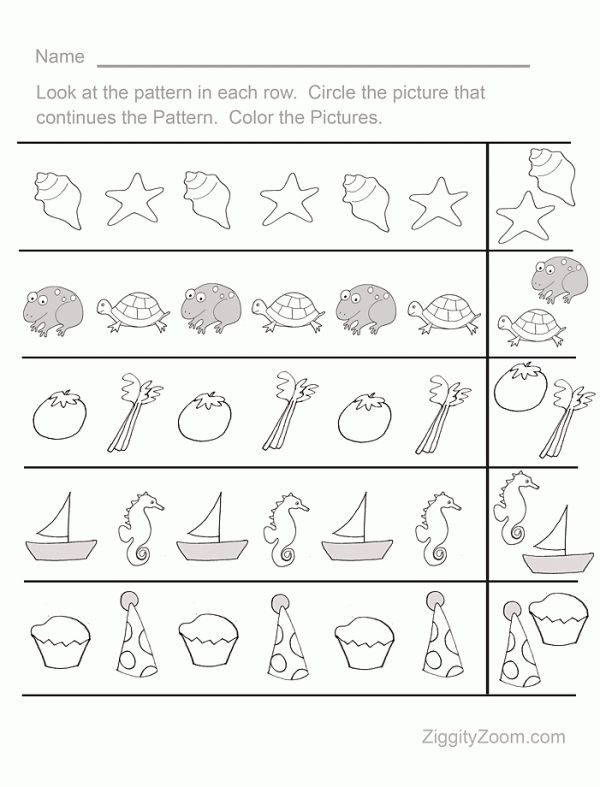 Number Names Worksheets simple patterns worksheets : 1000+ images about preschool @ home on Pinterest