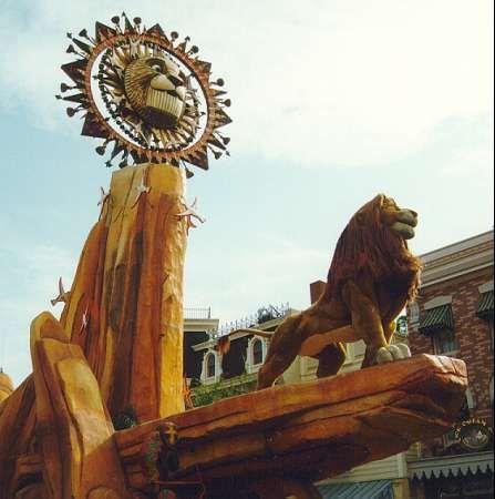 Lion King float from the Lion King parade, Disneyland circa 1994-1997