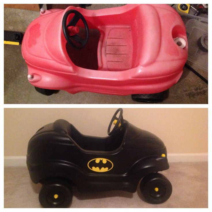 before after pics of my little tikes car makeover