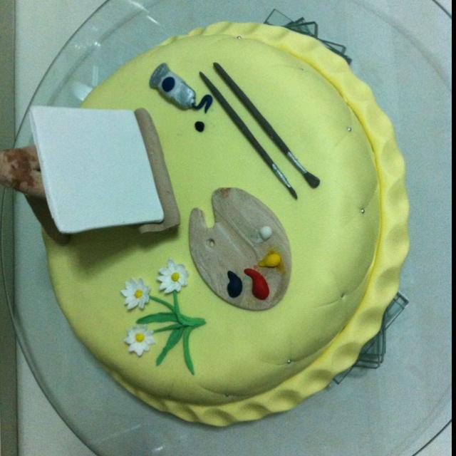 Paint #cake  #Torta de óleo  Por @acuariana7