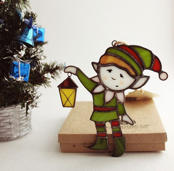 Stained glass elf
