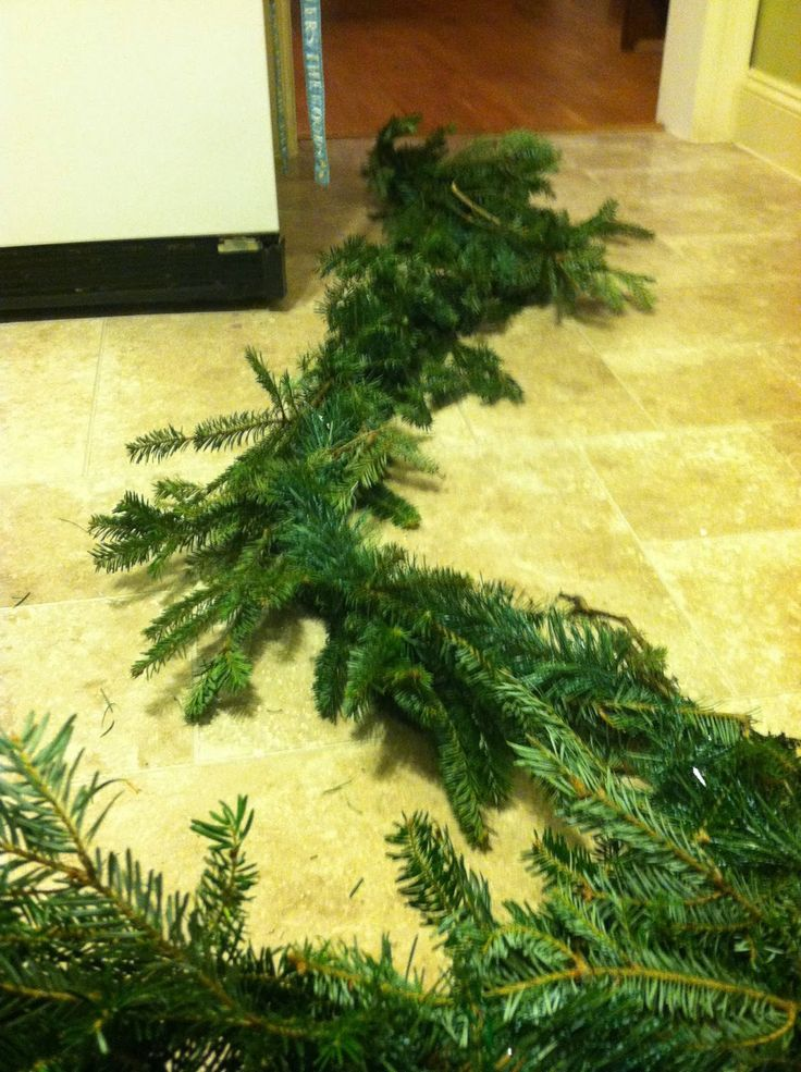 How to Make Pine Garland (for the Craft-Challenged Girls)