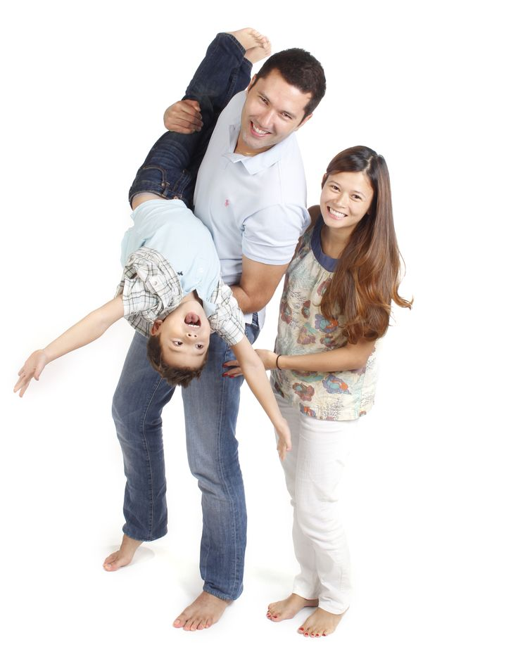 A fun photo of a family of 3! Family Photography at The Picture Company