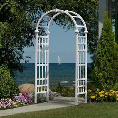 Garden Arbor Outdoor Wedding Yard Vinyl Gate Patio Decor White Pergola #Unbranded