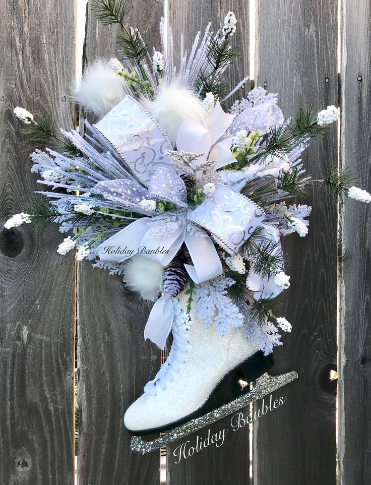 A personal favorite from my Etsy shop https://www.etsy.com/listing/558390844/winter-ice-skate-door-hanger-vintage-ice