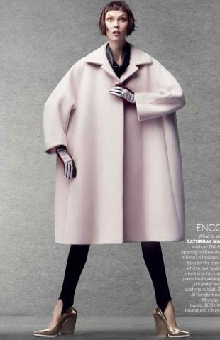 Bang on trend. cocoon coat. pale pink