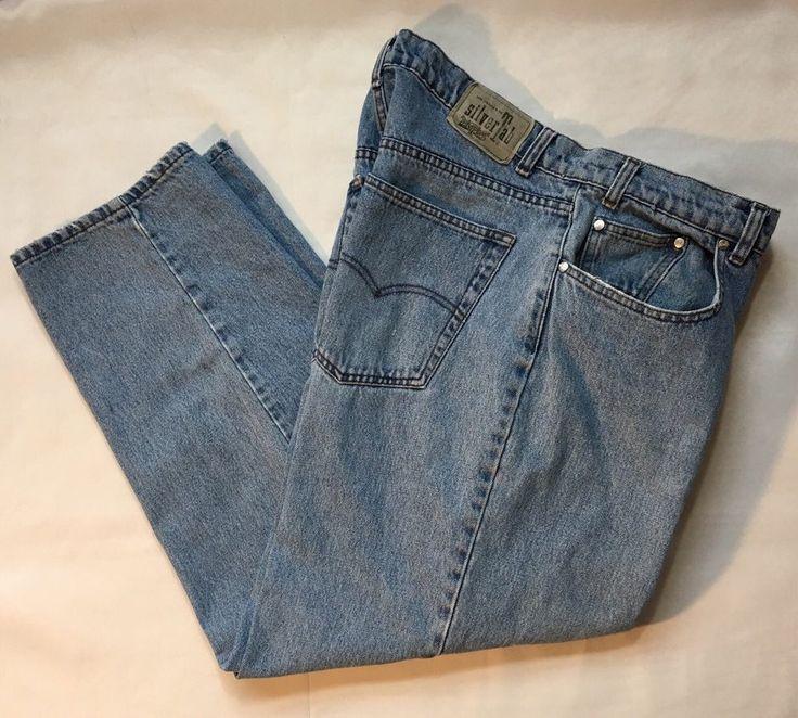 Levis mens silvertab blue jeans denim baggy loose size 35